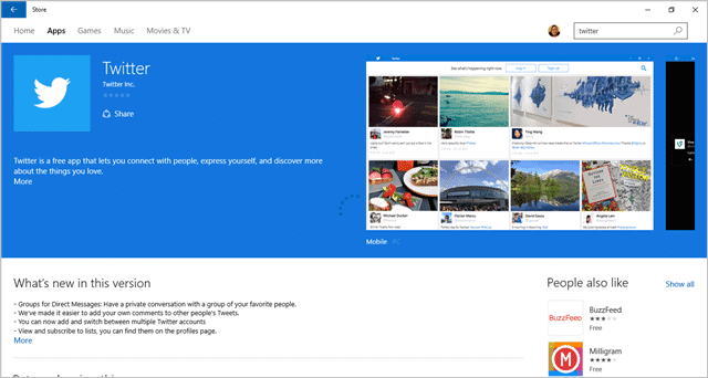 Twitter Has Released their Windows 10 App, Here's What it Offers