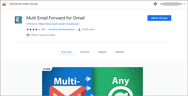 add Gmail Chrome Extension to forward multiple emails gmail