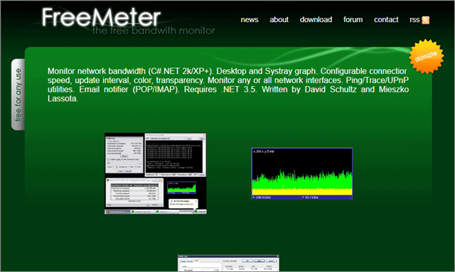 freemeter network bandwidth monitor