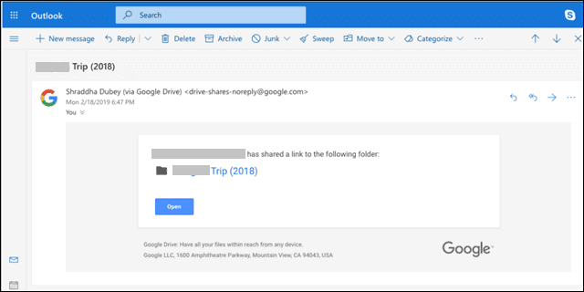 How to share in google drive