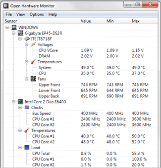 7 open hardware monitor how to check cpu temp