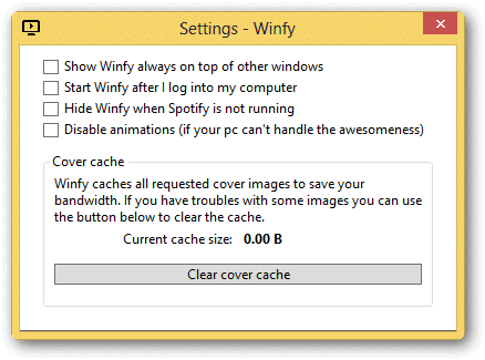 Use Winfy to Control How You Listen to Music with Spotify