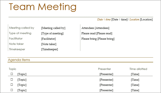 Best Meeting Agenda Templates For Microsoft Office And Google Docs
