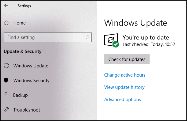 Check-for-updates-window