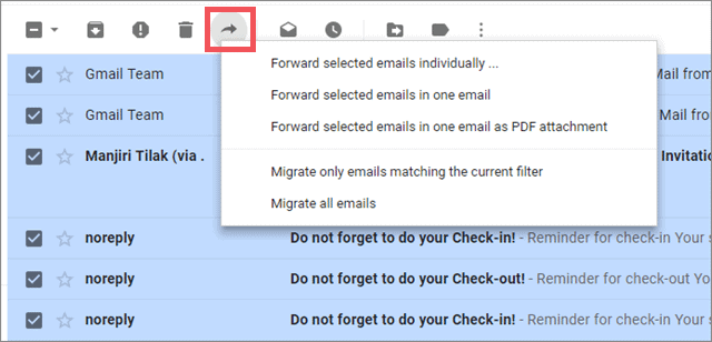 forward email gmail