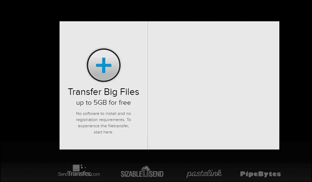 plus transfer to share big files