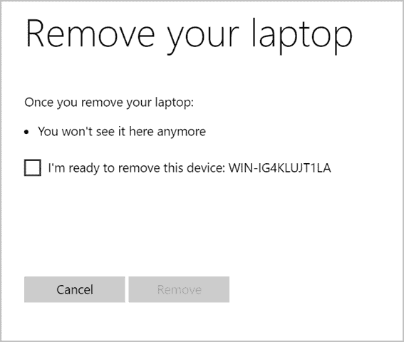 Remove your device from Find My Device