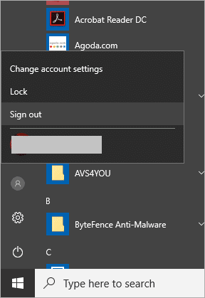 sign out and sign in windows 10 to fix volume icon missing