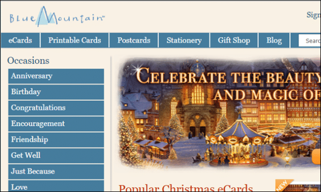 Blue Mountain Free Online E Card Sites
