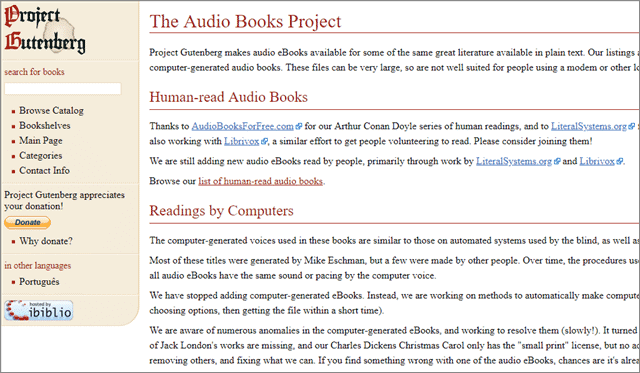 project gutenberg audio books mp3