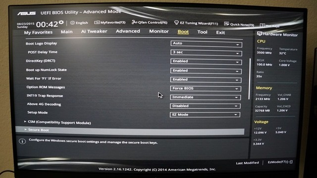 ASUS UEFI BIOS Utility - Boot settings