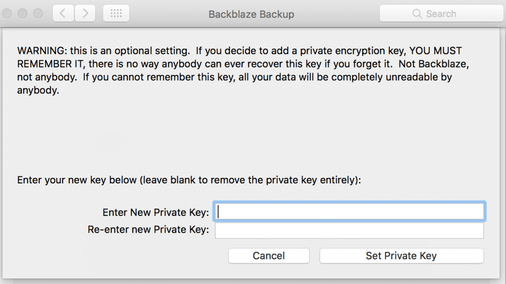 additional-security-using-private-key-backblaze