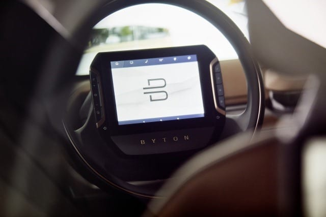 BYTON touchscreen steering wheel