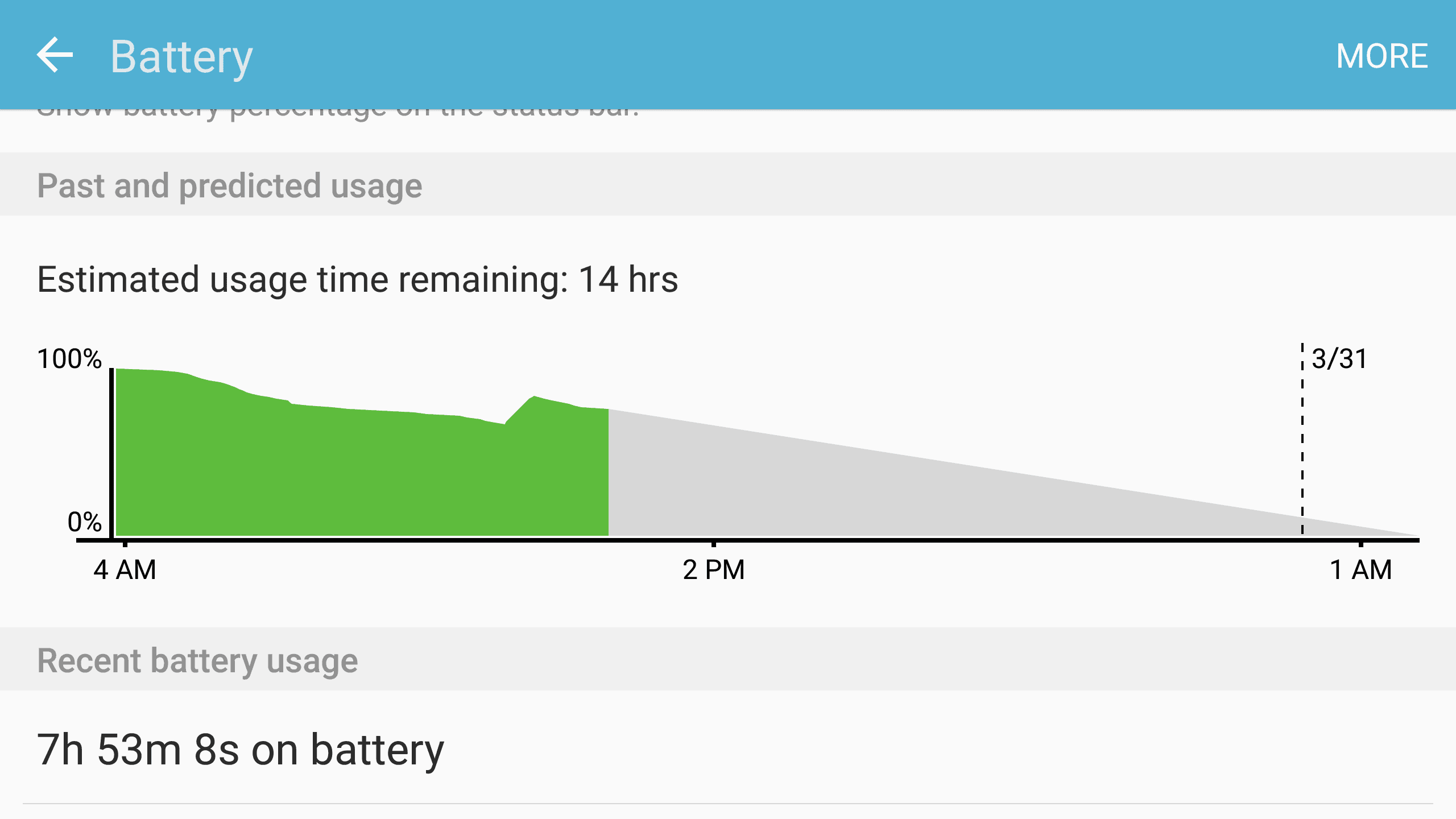 Battery life on Samsung Galaxy s7
