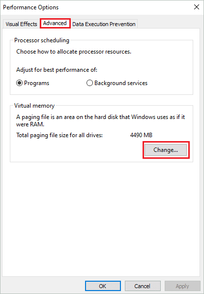 Click on Change for how to increase VRAM