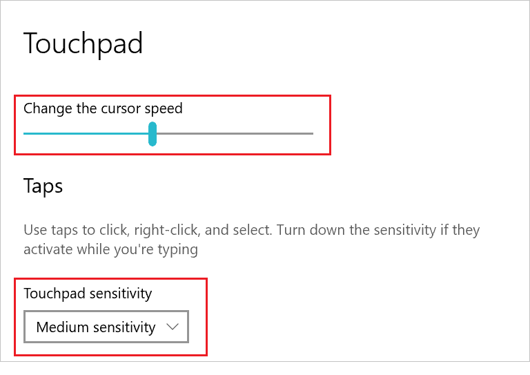 Change touchpad speed and sensitivity when laptop touchpad not working