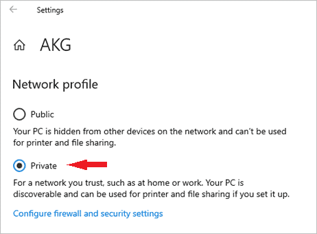 change network from public to private in windows 10