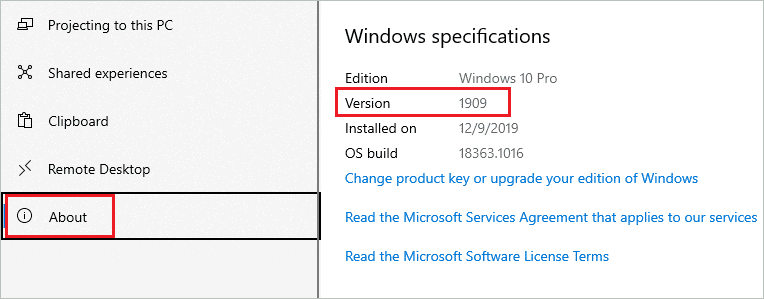 Check Windows version when windows 10 search not working