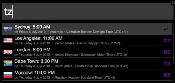Check-different-time-zones-in-Alfred