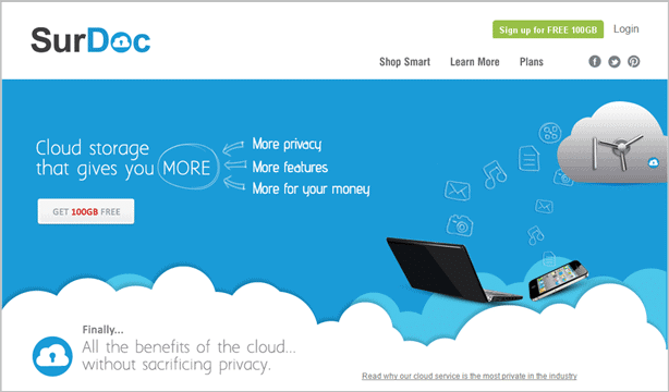 Surdoc Is A Cloud Computing Storage Provider That Offers 100gb Of For Free Without Requiring Credit Card To Sign Up Their Service