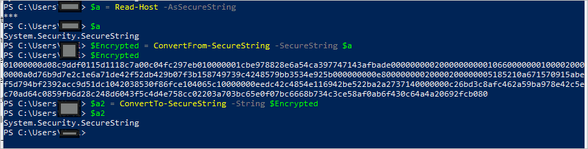 ConvertTo SecureString Windows PowerShell command