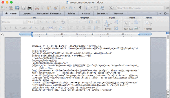 Corrupted Word file on Mac