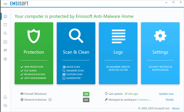Emsisoft Anti Malware Home best malware removal software