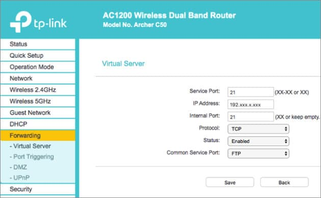 tp-link-ftp-router-settings