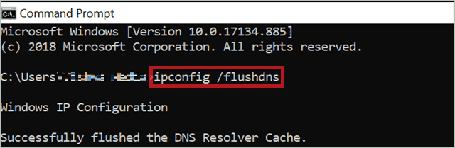 Flush DNS Cache to fix computer not showing up on network