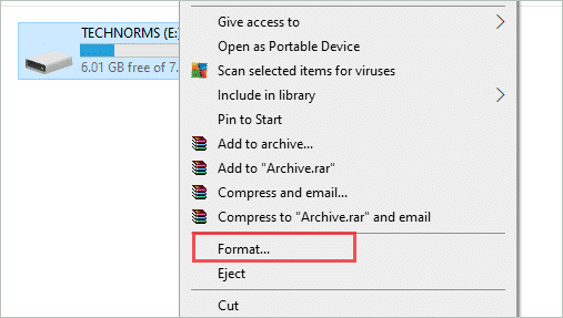 Format the USB Drive