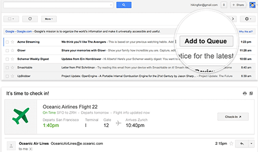 Gmail Quick Action Buttons