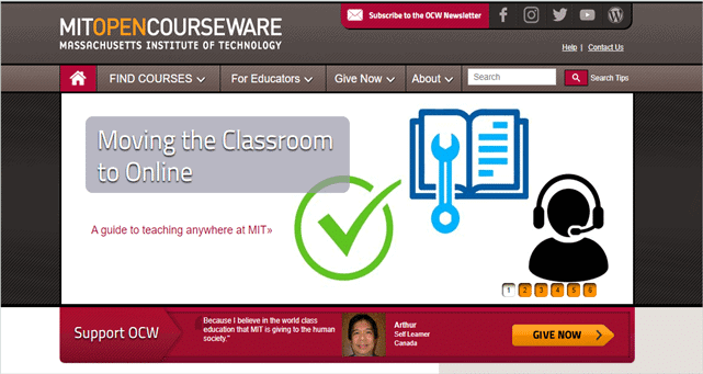 MIT Open Courseware best online learning platforms