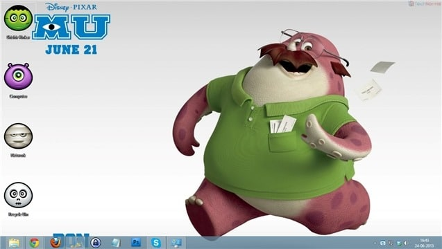 Get the monsters university theme for windows 7 and windows 8 monster university wallpaper 02 voltagebd Gallery