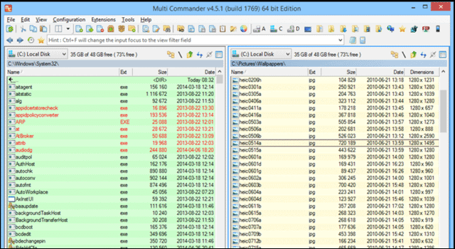 Multi commander windows file manager