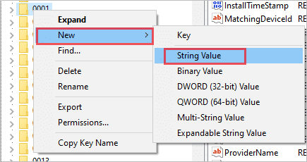 New String Value in Registry