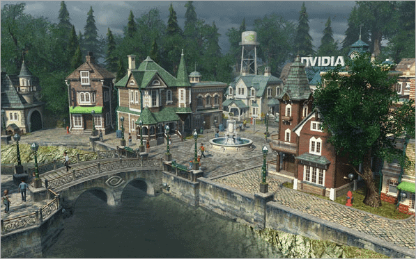 Nvidia Sun Village screensaver for windows