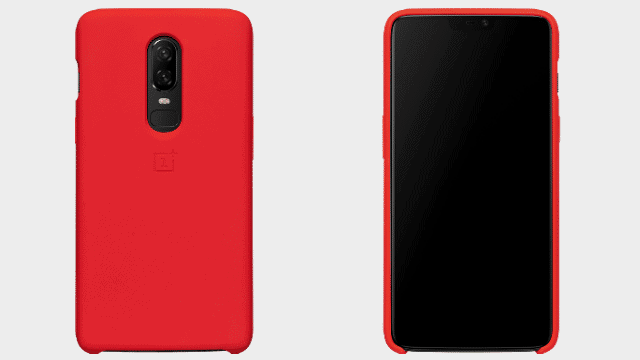 OnePlus 6 Silicone Protective Case Red FV 1