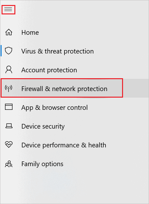 Open Firewall and Network Protection