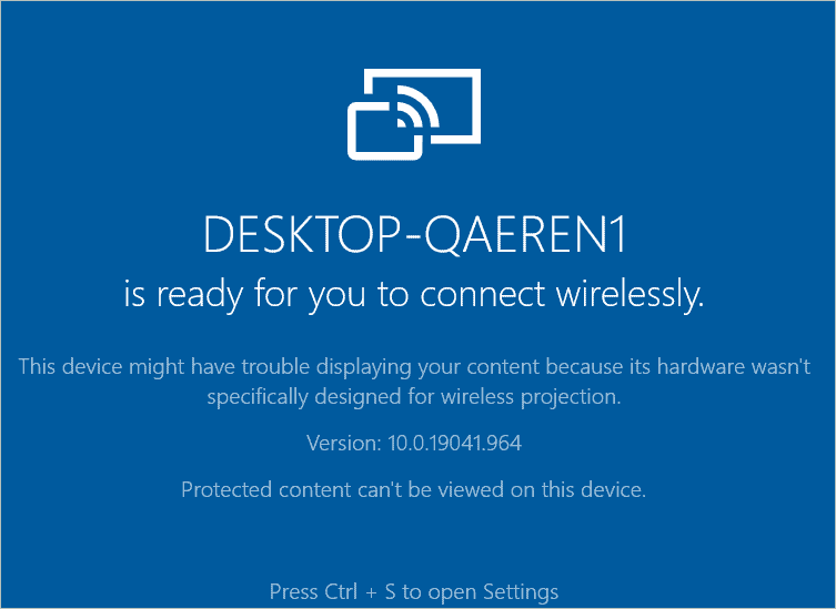 Connect app screen