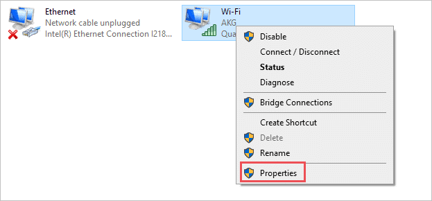 Properties of Wi Fi