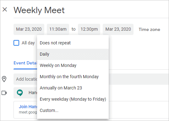 schedule-a-repeating-google-hangout-event