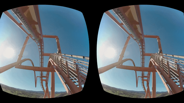 Rollercoaster experience on VR