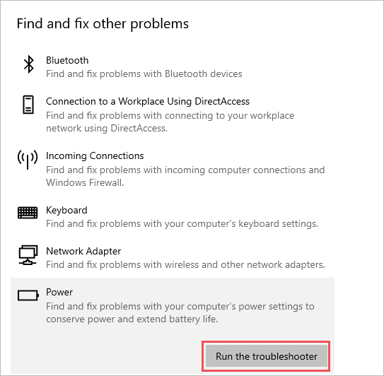 Run the troubleshooter  to fix Windows 10 Screensaver Not Working Issue