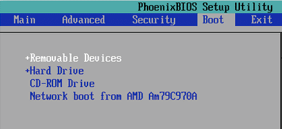 Bios-Boot-Manager-Options