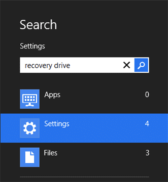 Searching-for-recovery-drive-windows-8