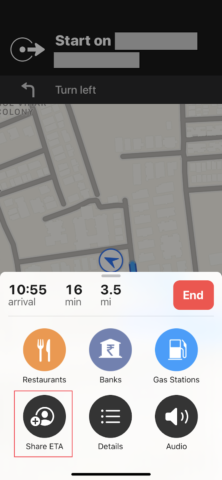 Share ETA for how to send location on iphone