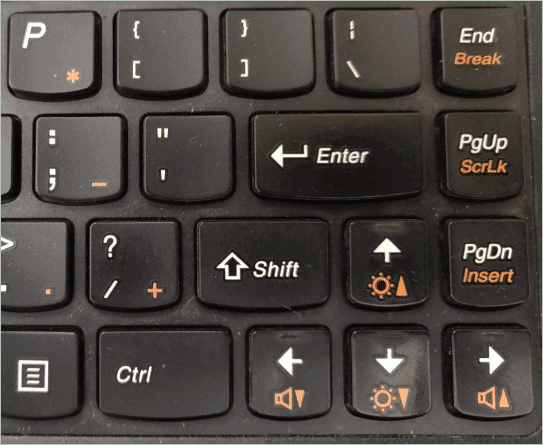 Shortcut Key for how to change brightness in Windows 10