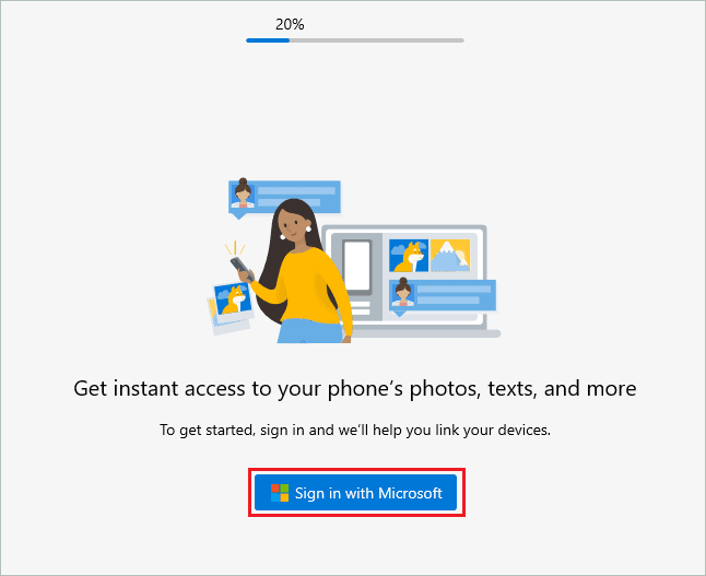 Sign-in with Microsoft account