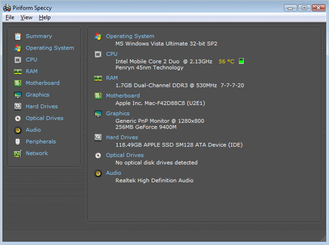 how to check graphics card windows 10 through Speccy