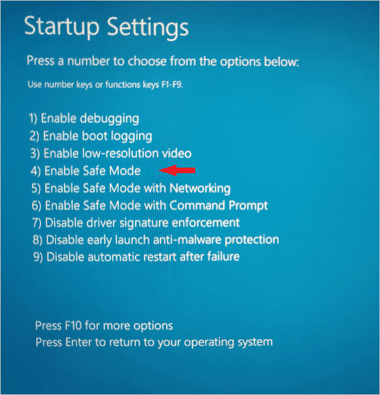 start-safe-mode-windows-10